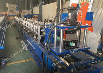 Guide Rails Shutter Door Roll Forming Machine For Light Steel Construction