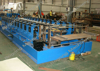 Automatic Sheet Metal Forming Machine , Goods Shelves Steel Frame Roll Forming Machine