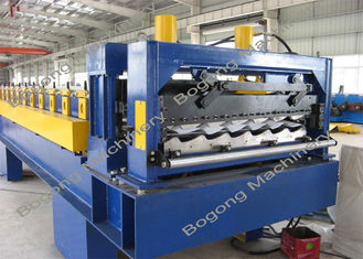 Heavy Duty Metal Roof Tile Roll Forming Machine Touch Screen Control