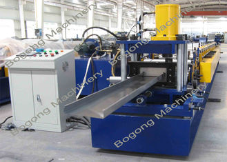 C200 PLC Control Purlin Roll Forming Machine Customized 10 - 20m / Min Speed