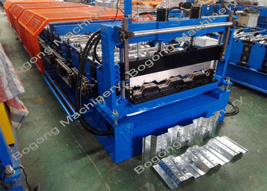 Composite Metal Floor Deck Roll Forming Machine For Custom Galvanized Coil