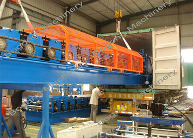 Cold Rolled Sheet Metal Forming Equipment 1220 Mm Feeding Width For Floor Deck