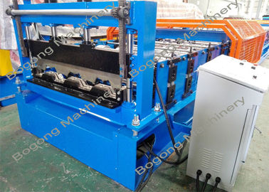 Custom Metal Deck Roll Forming Machine , High Speed Cold Forming Machine