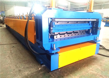 Metal Roofing Roll Forming Machine , Automatic Double Deck Roll Forming Machines