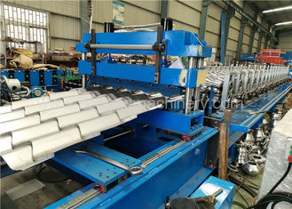 Corrugated Metal Roofing Steel Tile Roll Forming Machine With High Performance