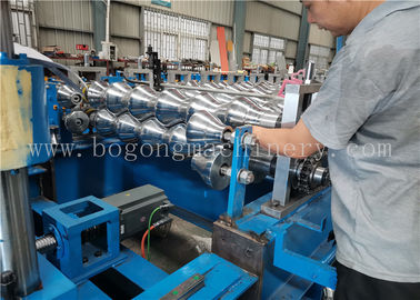 High Speed Steel Roof Tile Roll Forming Machine For Galvanized Sheet / PPGI