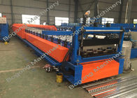 Steel Floor Deck Roll Forming Machine 15 KW Motor 1250 Mm Feeding Width