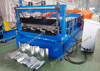Steel Panel Floor Deck Roll Forming Machine With Cr12 Cutting Blade
